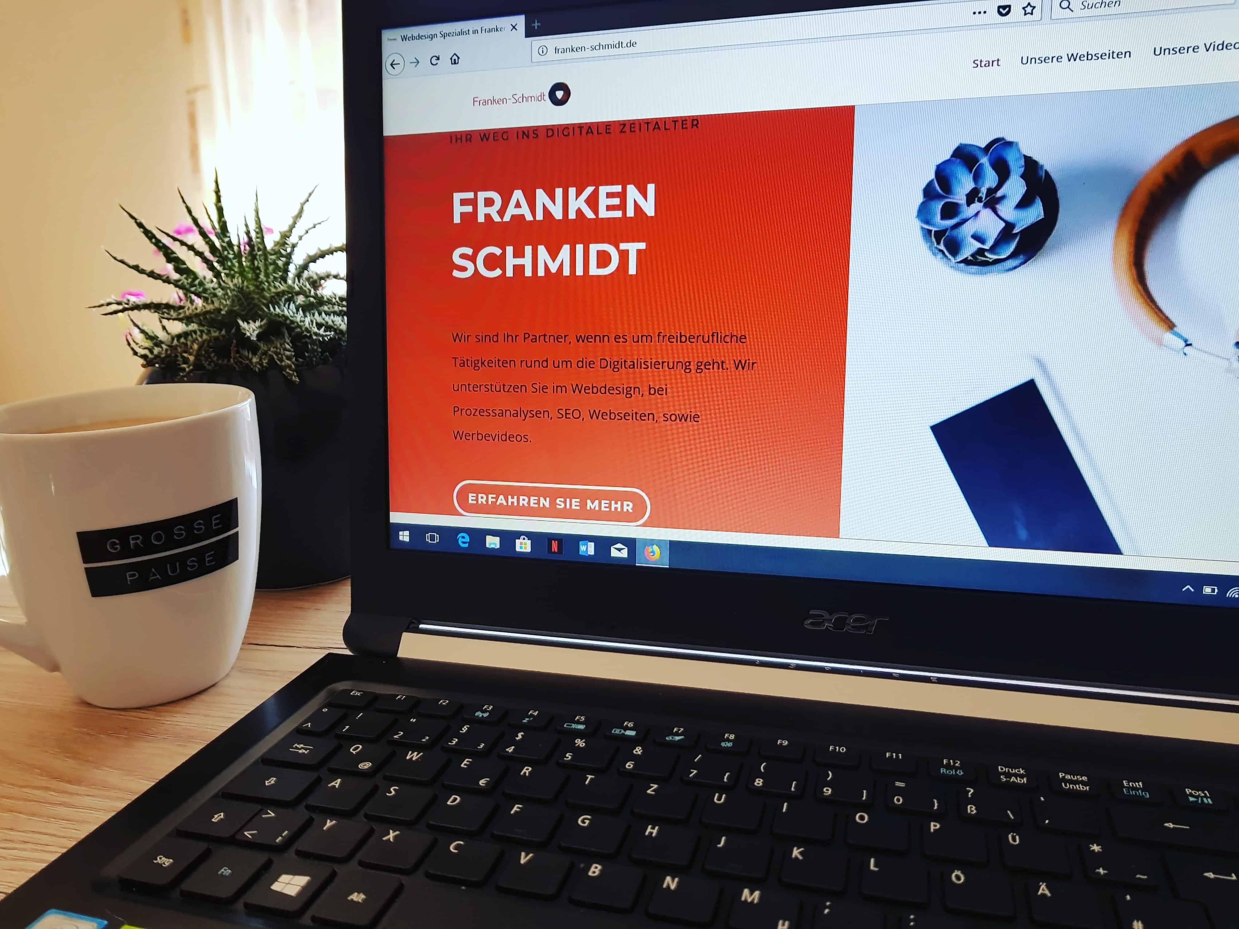 Franken-Schmidt bietet Werbevideos, Webseiten und vieles mehr!